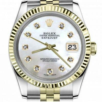$ CDN6755 • Buy Ladies Vintage Rolex 26mm Datejust Two Tone White MOP Mother Of Pearl Dial With
