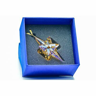 Swarovski Large Gold 3d Star - Christmas Ornaments - 5301220 • 50£