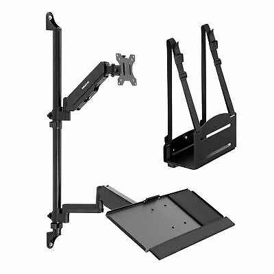 $155.99 • Buy Mount-It! Monitor Wall Mount Workstation With CPU Holder And Keyboard Tray