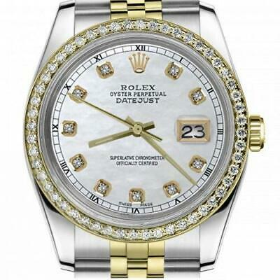 $ CDN6755 • Buy Ladies Rolex 26mm Datejust Vintage Diamond Bezel Two Tone White MOP Dial With Di