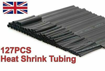 127Pcs Car Electrical Cable Heat Shrink Tube Tubing Wrap Sleeve Assorted 7 Sizes • 3.47£