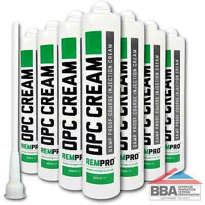 £48.99 • Buy Rempro 7 X BBA Damp Proofing Course Cream - DPC Wall Injection Treatment Control
