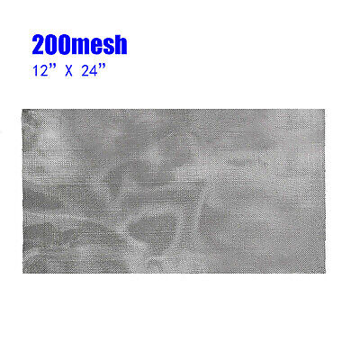 £6.63 • Buy 200 Mesh 75Micron 304 Stainless Steel Pollen Dry Ice Filtration Screen 12x24in