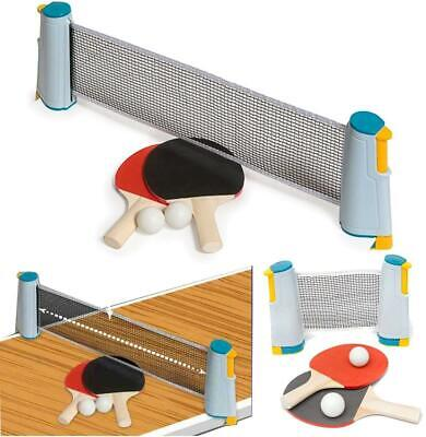 Retractable Table Tennis Ping Pong Net Kit Portable Indoor Games Replacement Set • 12.95£