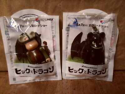 $49.99 • Buy Bearbrick Pepsi Nex Japan HOW TO TRAIN YOUR DRAGON Cell Strap Figure Lot RARE