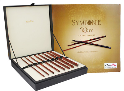 KnitPro Symfonie Rose Crochet Hooks Set Embellished With Swarovski Crystals  • 80.88£