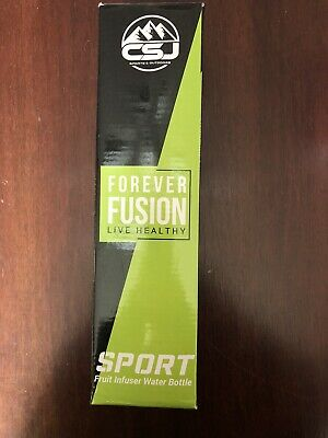 Forever Fusion Sport Water Bottle Fruit Infuser Clear Water Bottle • 12.21£