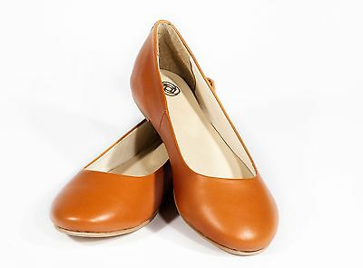 Size 7 Ladies Tan Leather Ballet Ballerina Flat Pumps - Brand New  • 29.99£