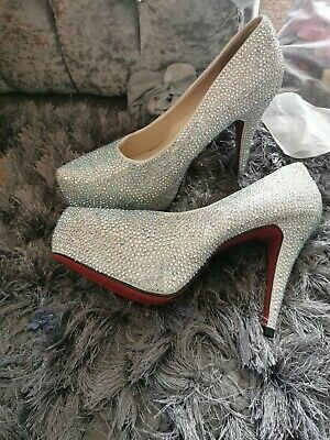 Love Lemonade Glitter Diamond Shoes/heels Size 7 • 25£
