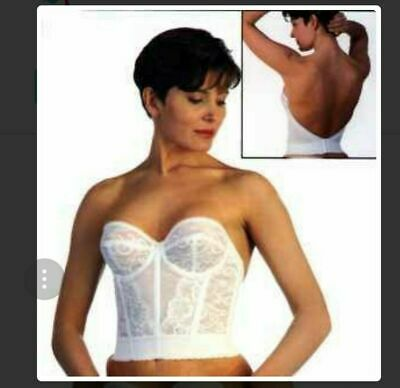 Goddess Lace Strapless Underwire Low Back Bridal Style 688 Bustier Bra Corset  • 22.99£