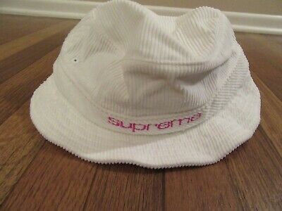 $ CDN142.35 • Buy Supreme Compact Logo Corduroy Crusher Bucket Hat Size M/L White SS19H80 New SS19