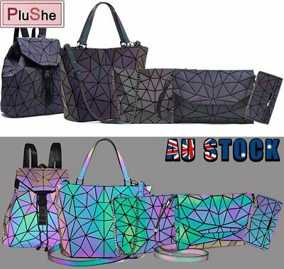 AU19.99 • Buy Women Geometric Laser Diamond Handbag Luminous Fold Messenger Shoulder Tote Bag