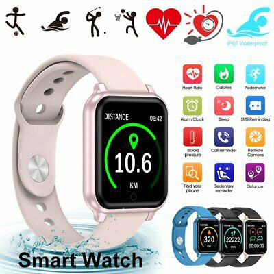 AU22.99 • Buy Waterproof Smart Watch Heart Rate Bracelet Women Gift For IPhone Android Samsung