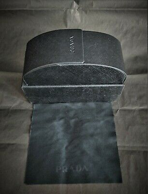 Prada Textured Leather Glasses Case (Large) And Cleaning Cloth • 24.99£