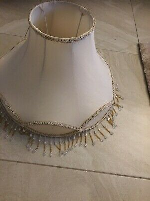 Fancy Beaded With Lace 18  Floor Table Lamp Light Shade Lampshade • 25£