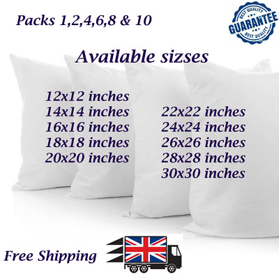 Hollow Fibre  Pumped Cushion Fillers/Inner Cushions Inserts/Pads All Sizes • 1.98£
