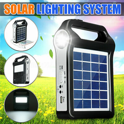 220V Portable Solar Panel Power System USB Charging Generator Camping With LED • 17.73£