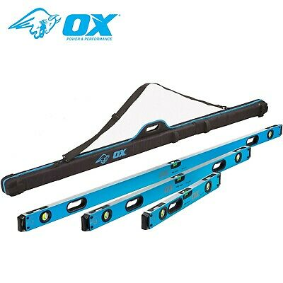 OX Tools P028603 Pro Spirit 3 Piece Level Set With Case - 600mm, 1200mm & 1800mm • 133.99£