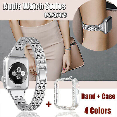 $ CDN17.91 • Buy 38mm 40mm Bling IWatch Strap Women Jewelry Band For Apple Watch Series 1 2 3 4 5