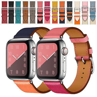 $ CDN10.50 • Buy Genuine Leather Band 38/40mm 42/44mm Wristband For Apple Watch Series 5 4 3 2 1