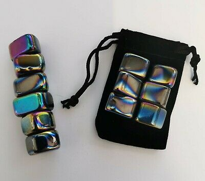 Iridescent Magnetic Hematite Stones Set Of 6 In Pouch Magnet Cool Science • 3.99£