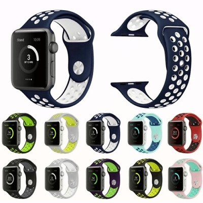 $ CDN6.69 • Buy Sport Silicone Wrist IWatch Strap Band For Apple Watch SERIES 1 2 3 4 42/44MM