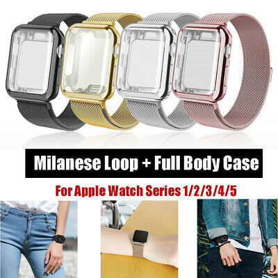 $ CDN13.59 • Buy Milanese Loop + Case For IWatch Apple Watch Series 5 4 3 2 1 Magnetic Strap Band