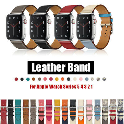 $ CDN10.50 • Buy For IWatch Apple Watch Series 5 4 3 2 1 Leather Band 38mm 40mm 42mm 44mm Strap