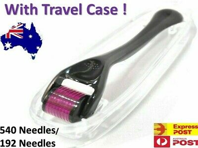 AU17.67 • Buy Derma Roller With FREE Travel Case Titanium Alloy Micro 192 / 540 Needles Roller