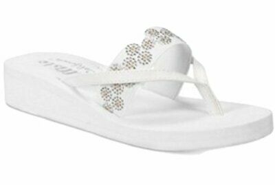 $14.98 • Buy Callisto Lush Embellished Wedge Sandals White Color Size 5 M US, White, Size 5.0
