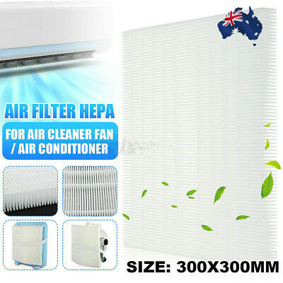 AU31.85 • Buy 2pcs Air Filter HEPA Dust Filter DIY For Air Conditioner Cold Air Cleaner Fan