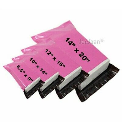 Strong Mailing Bags-PINK Postal Sacks Plastic Poly Mailer Selfseal Postage Cheap • 3.98£