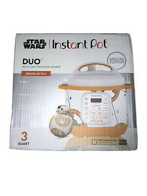 $120 • Buy Star Wars Instant Pot SPECIAL EDITION 3 Quart BB-8 New Pressure Cooker DUO