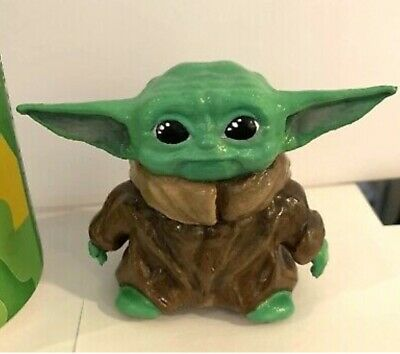 $22.99 • Buy The Mandalorian: Baby Yoda 3 , 3D Printed/Resin-Casted & Hand-Painted Figurine