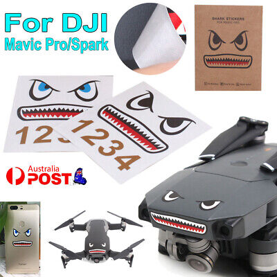 AU9.99 • Buy Shark Decoration Skin Sticker Waterproof Decal For DJI Mavic Pro RC Drone Spark