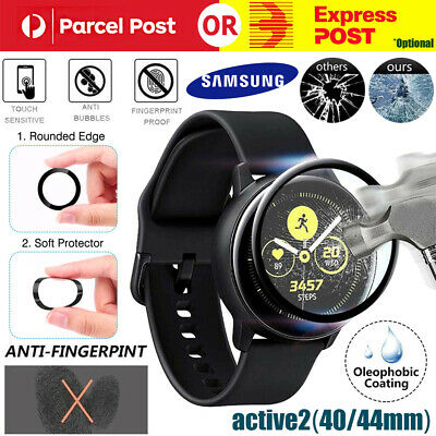 AU5.99 • Buy 3D Full Screen Soft Fibr Glass Protector Film For Samsung Galaxy Watch Active 2