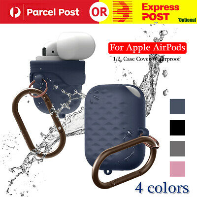 AU7.96 • Buy Case Cover Waterproof Hang Active Silicone Skin For Apple AirPod 1/2 Case W/hook