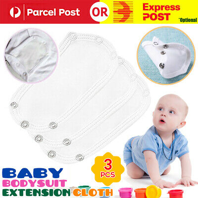 AU12.99 • Buy 3Pcs Baby Bodysuit Extension Cloth Kids Romper Toddler Vest Extender Accessories