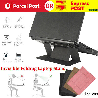 AU9.98 • Buy Invisible Folding Laptop Stand Thin Light Ergonomic Computer Mount For MacBook