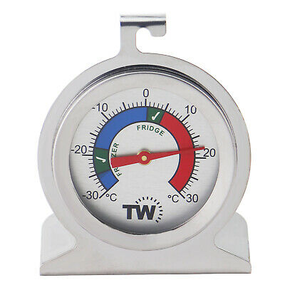 Fridge Thermometer / Freezer Thermometer Stainless Steel Safe Zones  - In-078 • 5.25£
