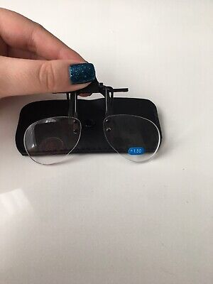 Clip On Flip Up Magnifying Glasses Spectacles Hobby Craft X1.5 • 2£