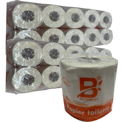 AU39.95 • Buy Toilet Paper 20 Rolls X 350 Sheets Tissue Belconfort Individually Wrapped Bulk