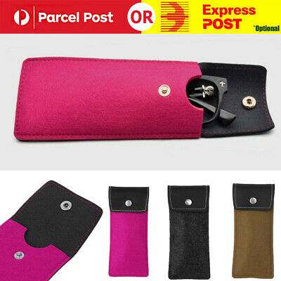 AU6.97 • Buy Soft  Faux Leather Glasses Bag Brief Pouch Sleeves Sunglass Lens Case Protector