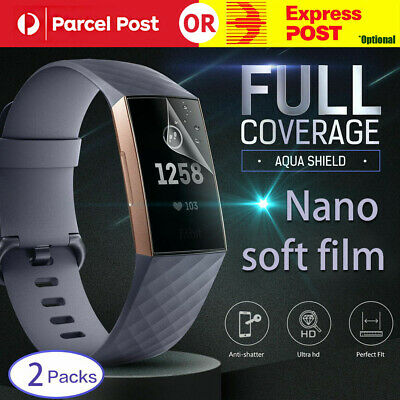 AU6.34 • Buy For Fitbit Charge 3 Inspire Full Coverage Screen Protector Aqua Crystal HD Film