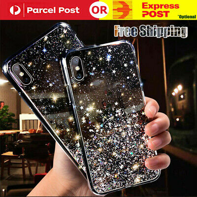 AU7.50 • Buy For IPhone 11 Pro Max Xs/Xr 7 8 6 Bling Glitter Case Ultra-thin Soft Cover Black