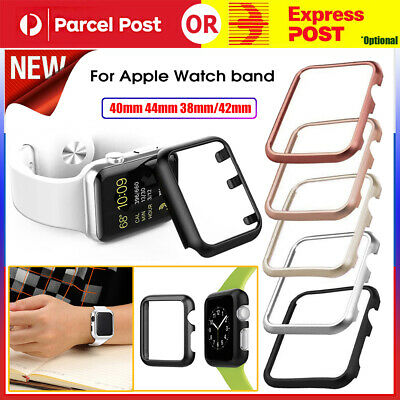 AU7.97 • Buy Stainless Steel Watch Case For Apple Watch Band 40mm 44mm 38mm/42mm Iwatch