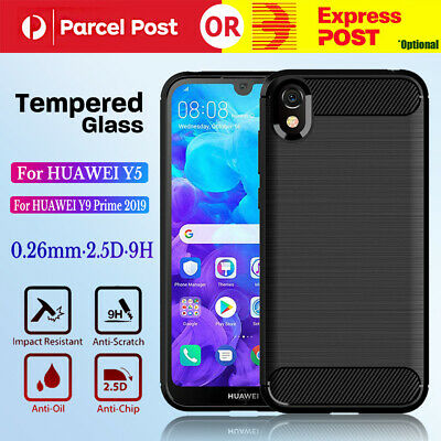 AU6.99 • Buy For HUAWEI Y5 / Y9 Prime Shockproof Protective Carbon TPU Cover Anti Knock Case
