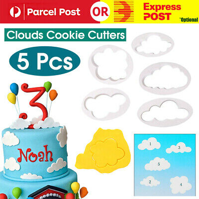 AU4.99 • Buy 5 Pcs Clouds Cookie Cutters Baking Decorating Mold Fondant Biscuit Cutters Tool