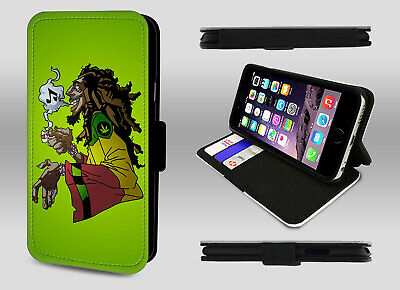 Bob Marley Reggae Rastaman Rasta Ganja Jamaica Wallet Leather Phone Case Cover • 8.95£