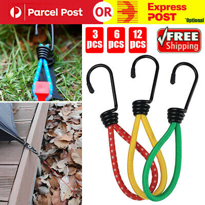 AU12.96 • Buy 12PCS Antislip Stretch Latex Tent Peg Hook Camping Accessories Rope Outdoor 6in